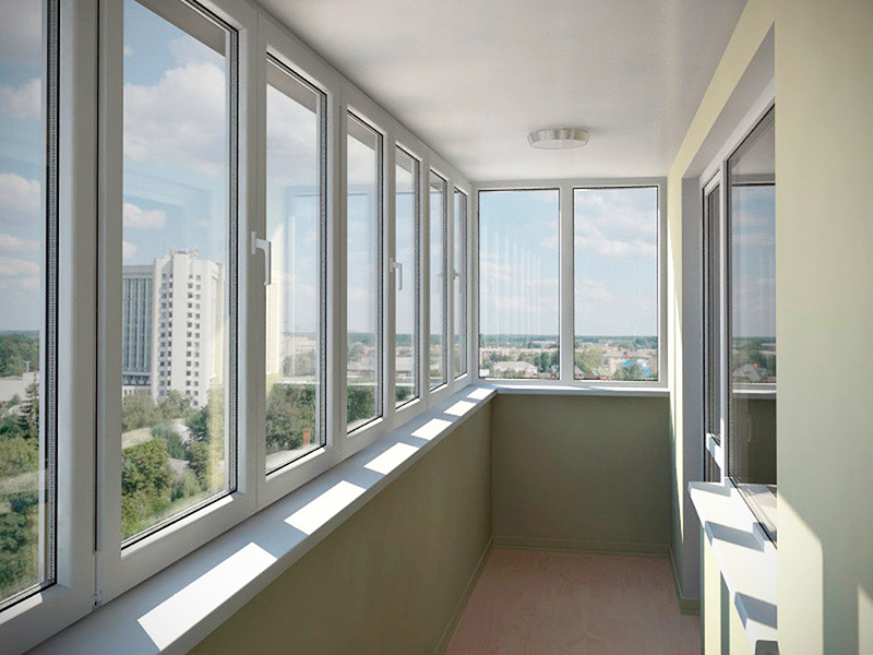 Варианты остекления балконов фото